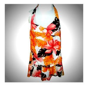 Tropical Skirted swimsuit size 8